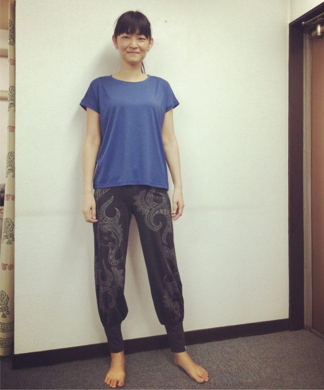 ご来場いただいたHIKARU先生が着るとこんな感じになります。